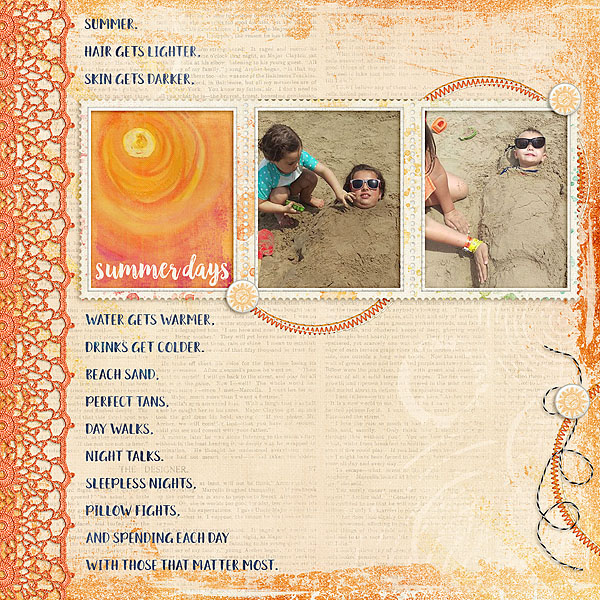 Kit: Summer Skies Designer: Kimeric Kreations Edge Its Designer: Lindsay Jane