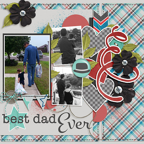 Loving It Vol 1 Template Kit World's Best Dad  Designer: The DigiCrafter Font: Montez