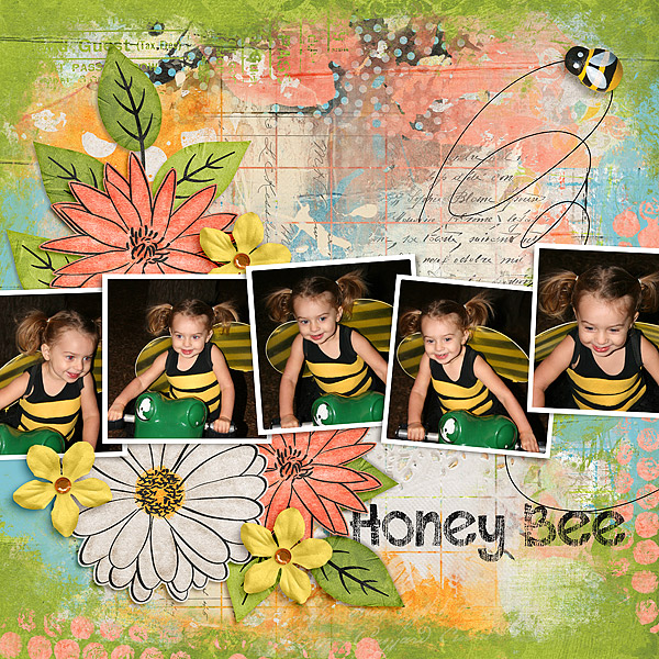 Kit: Today I Feel Happy Blendits Layered Template 20 Designer: Created by Jill These Are My Dreams for You Mishmashed Edges Designer: Created by Jill Font: DJB This Font is Worn Regular