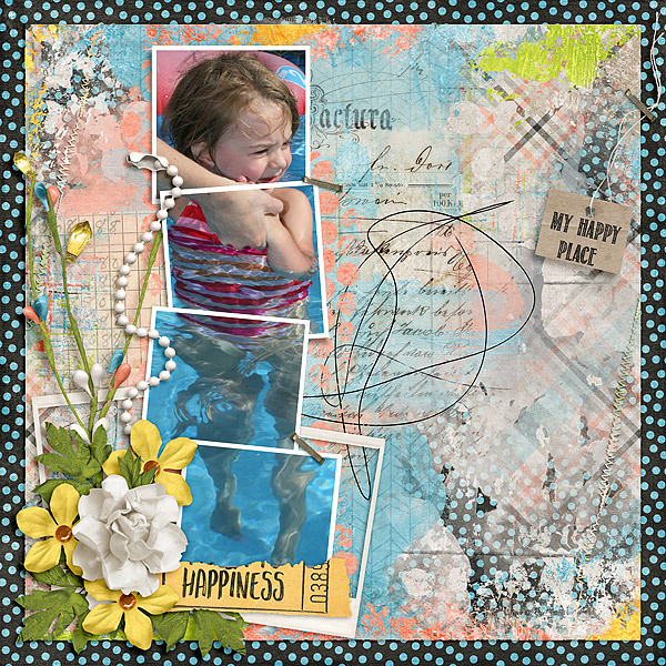 Kit: Today I Feel Happy Blendits Layered Template 20 Designer: Created by Jill Font: Return To Sender Regular