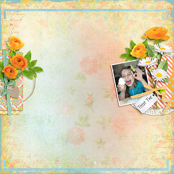 Kit: Snack Time Designer: Vero A French Touch Font: DJB LENA Regular