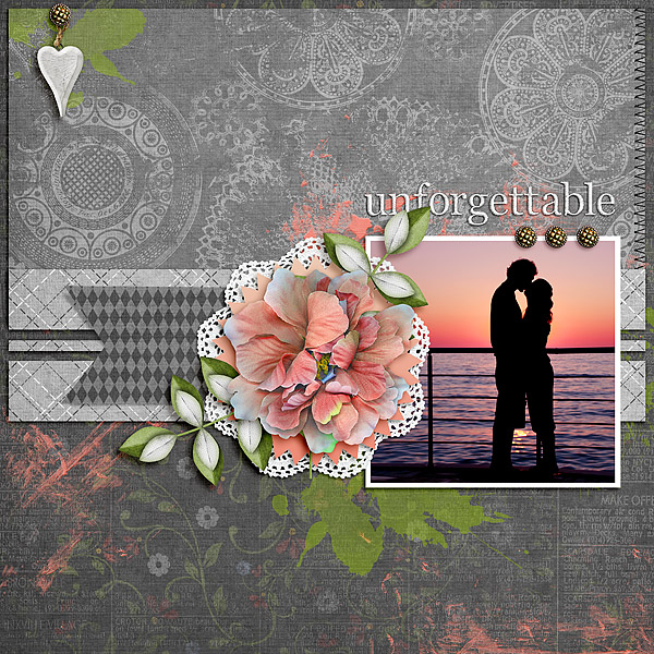 Kit: Unforgettable Designer: Kimeric Kreations Template: Pretty As A Picture Page Draft Designer: The Nifty Pixel