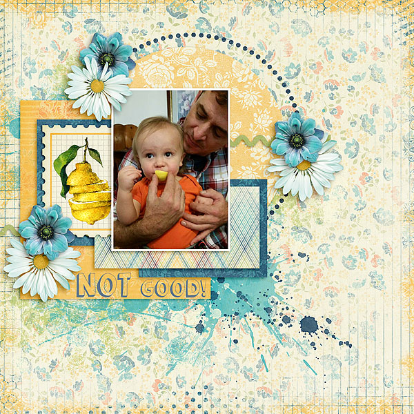 Kit: Blue Jeans and Lemonade Designer: Kimeric Kreations Template: Showcase Solo Designer: Christaly Artsy Fartsy Edges Designer: Kimeric Kreations Font: KG Summer Sunshine Shadow Regular