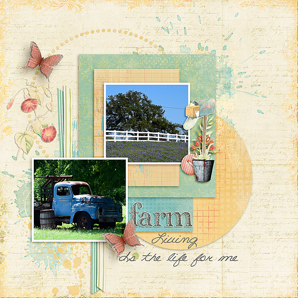 Kit: Farmhouse Chic Designer: Kimeric Kreations Template: Showcase:Duo Designer: Christaly Font: DJB Room Mother Regular