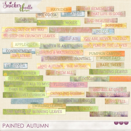 Painted Autumn Word Strips