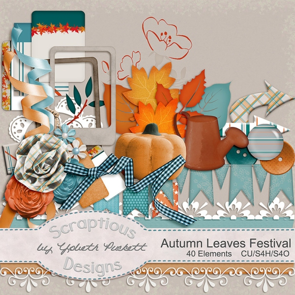 autumn leaves festival elements preview
