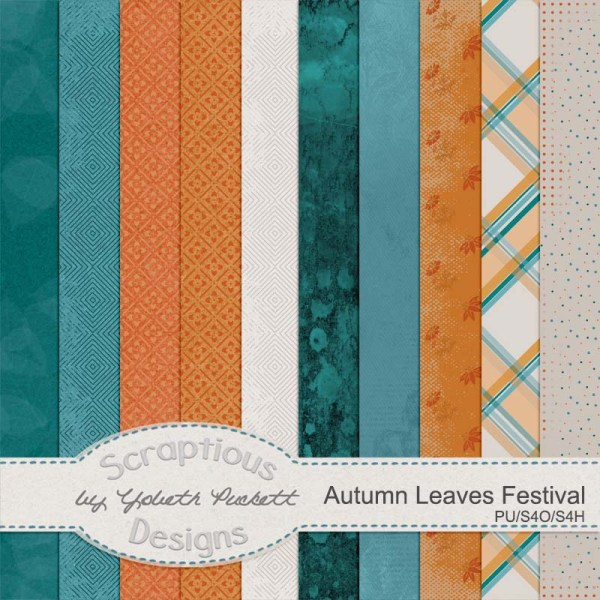 Kit: Autumn Leaves Festival Designer: Scraptious Designs