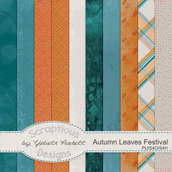 Kit: Autumn Leaves Festival Designer: Scraptious Designs